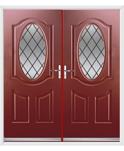 Montana French Rockdoor in Ruby Red with Diamond Lead