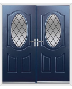 Montana French Rockdoor in Sapphire Blue with Diamond Lead