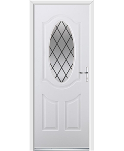 Ultimate Montana Rockdoor in White with Diamond Lead