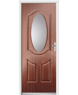 Ultimate Montana Rockdoor in Mahogany with Glazing