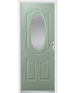 Ultimate Montana Rockdoor in Chartwell Green with Gluechip Glazing