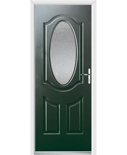 Ultimate Montana Rockdoor in Emerald Green with Gluechip Glazing
