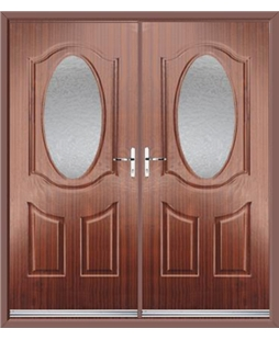 Montana French Rockdoor in Mahogany with Gluechip