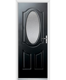 Ultimate Montana Rockdoor in Onyx Black with Gluechip Glazing