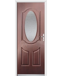 Ultimate Montana Rockdoor in Rosewood with Gluechip Glazing