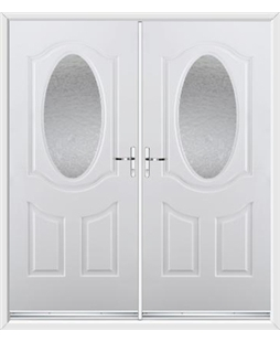 Montana French Rockdoor in White with Gluechip