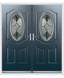 Montana French Rockdoor in Anthracite Grey with Libra Glazing