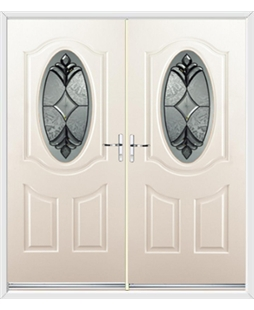 Montana French Rockdoor in Cream with Libra Glazing