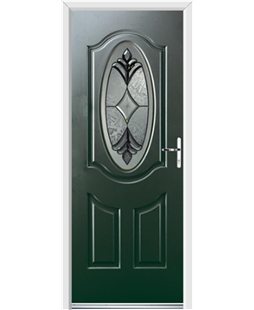Ultimate Montana Rockdoor in Emerald Green with Libra Glazing