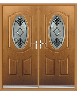 Montana French Rockdoor in Irish Oak with Libra Glazing
