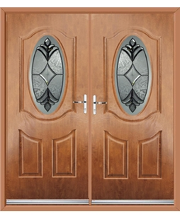 Montana French Rockdoor in Light Oak with Libra Glazing