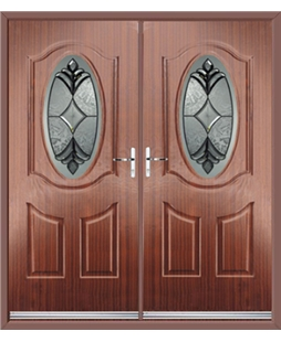 Montana French Rockdoor in Mahogany with Libra Glazing