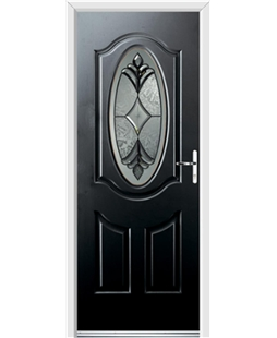 Ultimate Montana Rockdoor in Onyx Black with Libra Glazing