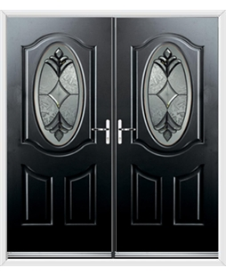 Montana French Rockdoor in Onyx Black with Libra Glazing