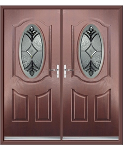 Montana French Rockdoor in Rosewood with Libra Glazing