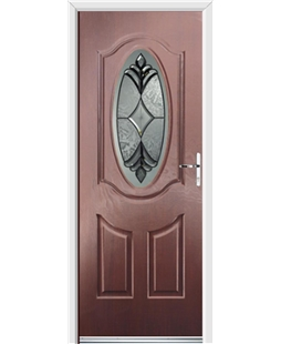 Ultimate Montana Rockdoor in Rosewood with Libra Glazing