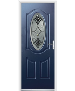 Ultimate Montana Rockdoor in Sapphire Blue with Libra Glazing
