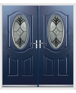 Montana French Rockdoor in Sapphire Blue with Libra Glazing