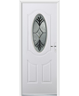 Ultimate Montana Rockdoor in White with Libra Glazing