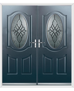 Montana French Rockdoor in Anthracite Grey with Renaissance Glazing