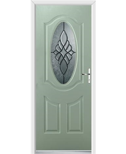 Ultimate Montana Rockdoor in Chartwell Green with Renaissance Glazing