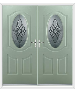 Montana French Rockdoor in Chartwell Green with Renaissance Glazing