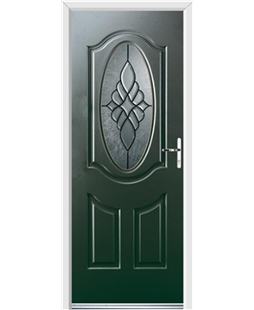 Ultimate Montana Rockdoor in Emerald Green with Renaissance Glazing