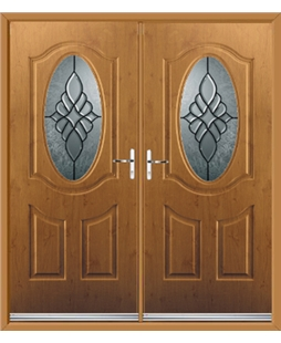 Montana French Rockdoor in Irish Oak with Renaissance Glazing
