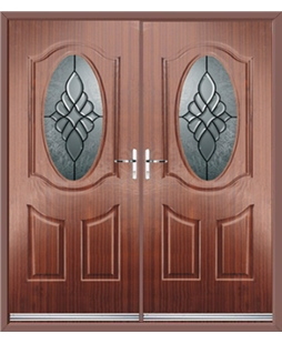 Montana French Rockdoor in Mahogany with Renaissance Glazing