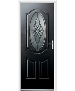 Ultimate Montana Rockdoor in Onyx Black with Renaissance Glazing