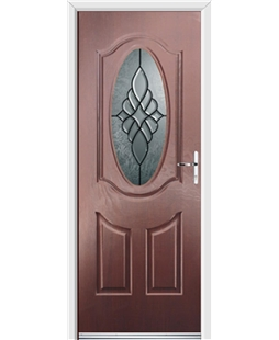 Ultimate Montana Rockdoor in Rosewood with Renaissance Glazing