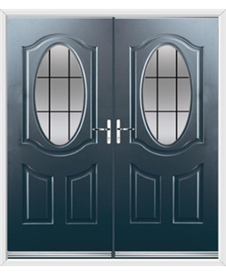 Montana French Rockdoor in Anthracite Grey with Square Lead