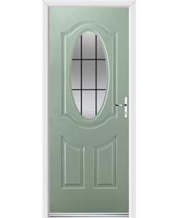 Ultimate Montana Rockdoor in Chartwell Green with Square Lead