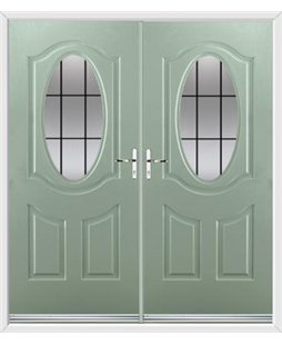 Montana French Rockdoor in Chartwell Green with Square Lead