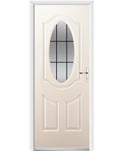Ultimate Montana Rockdoor in Cream with Square Lead
