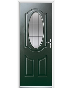 Ultimate Montana Rockdoor in Emerald Green with Square Lead