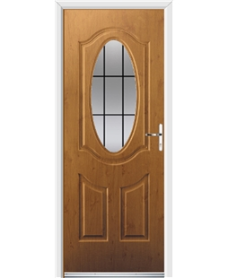 Ultimate Montana Rockdoor in Irish Oak with Square Lead