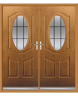 Montana French Rockdoor in Irish Oak with Square Lead