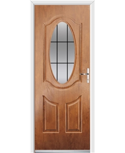 Ultimate Montana Rockdoor in Light Oak with Square Lead