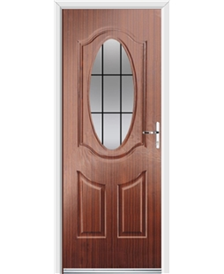 Ultimate Montana Rockdoor in Mahogany with Square Lead