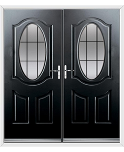 Montana French Rockdoor in Onyx Black with Square Lead