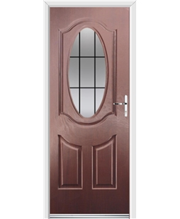 Ultimate Montana Rockdoor in Rosewood with Square Lead