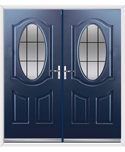 Montana French Rockdoor in Sapphire Blue with Square Lead