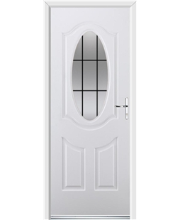 Ultimate Montana Rockdoor in White with Square Lead