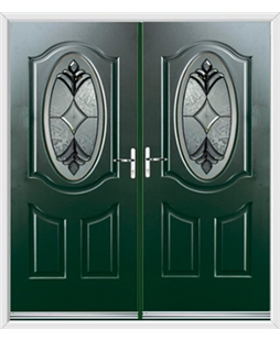 Montana French Rockdoor in Emerald Green with Libra Glazing