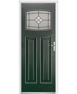 Ultimate Newark Rockdoor in Emerald Green with Bright Star Glazing