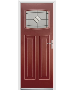 Ultimate Newark Rockdoor in Ruby Red with Bright Star Glazing