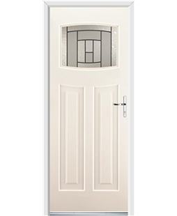 Ultimate Newark Rockdoor in Cream with Citadel Glazing