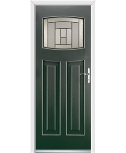 Ultimate Newark Rockdoor in Emerald Green with Citadel Glazing
