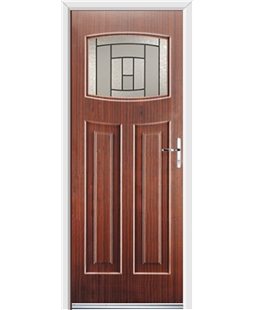 Ultimate Newark Rockdoor in Mahogany with Citadel Glazing
